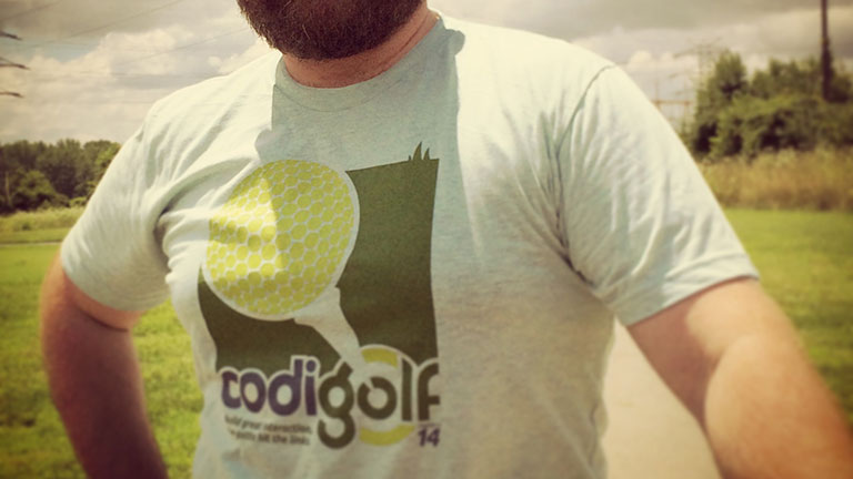 fun t-shirt from the Codigo golf company outing