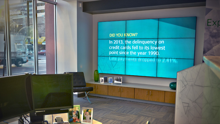 Codigo's multi-screen video wall installation