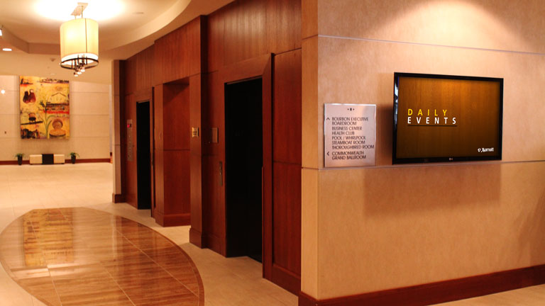 Codigo's digital signage in Marriott hospital